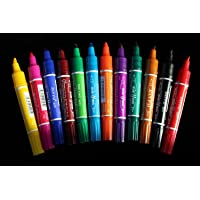 12 colores moscas doble cabeza permanente impermeable rotuladores SET