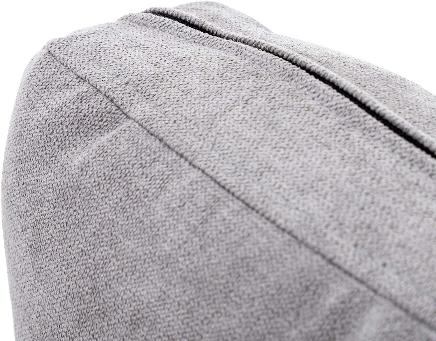 HONBAY Sofa Back Cushion Fully Expanded Cushion Fabric Sofa Pillows Beige