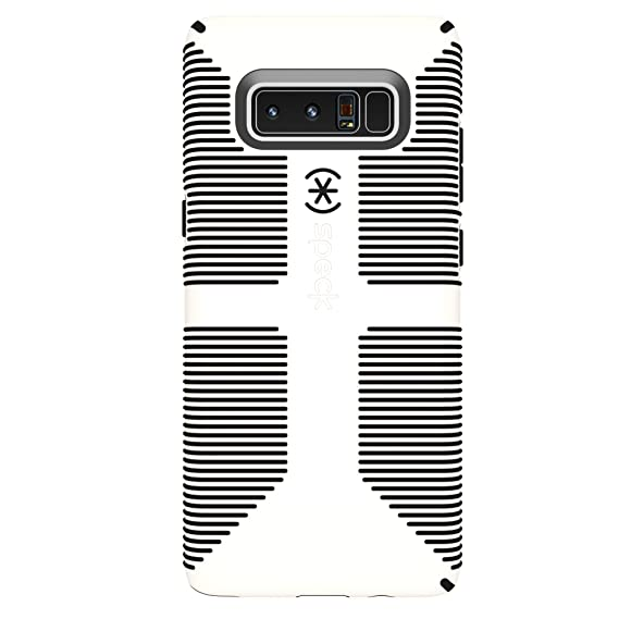cheap for discount 4bafa c46c4 Speck Products CandyShell Grip Cell Phone Case for Samsung Galaxy Note8 -  White/Black CandyShell Grip