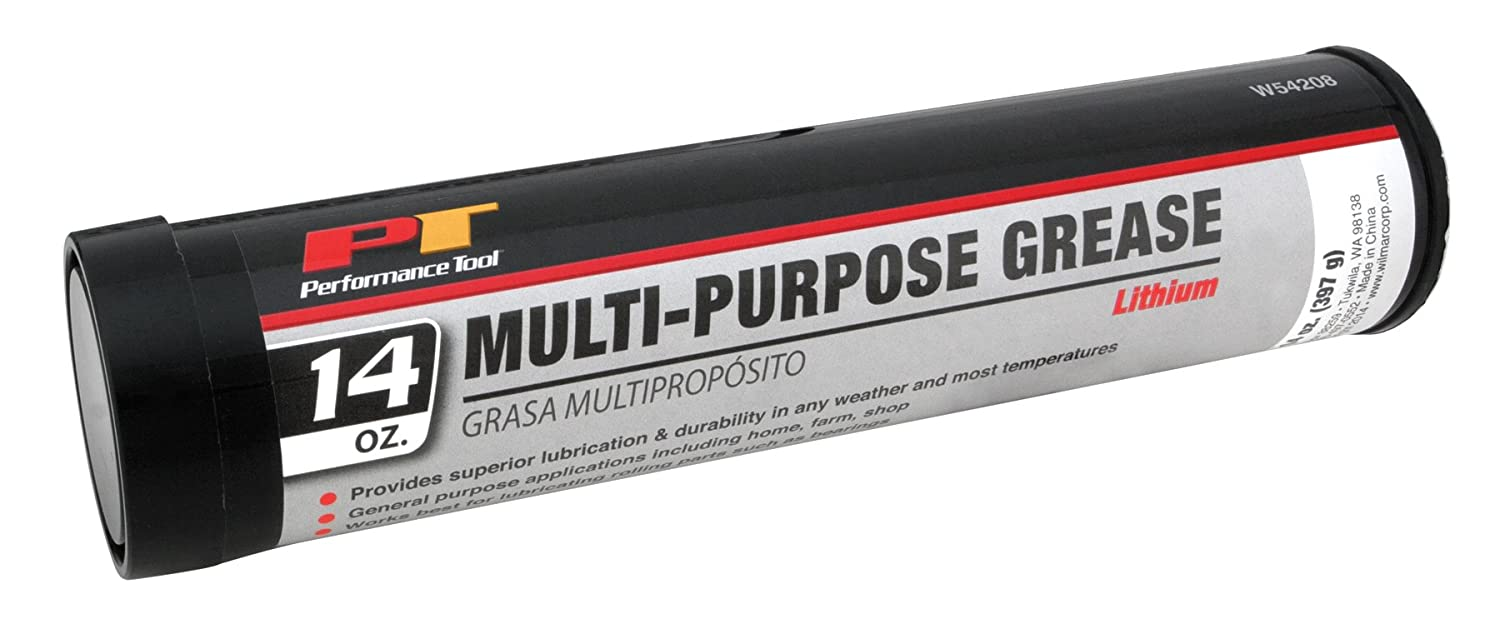 Performance Tool W54208 Grease-1pc 14oz Multi-Purp Lithium Grease