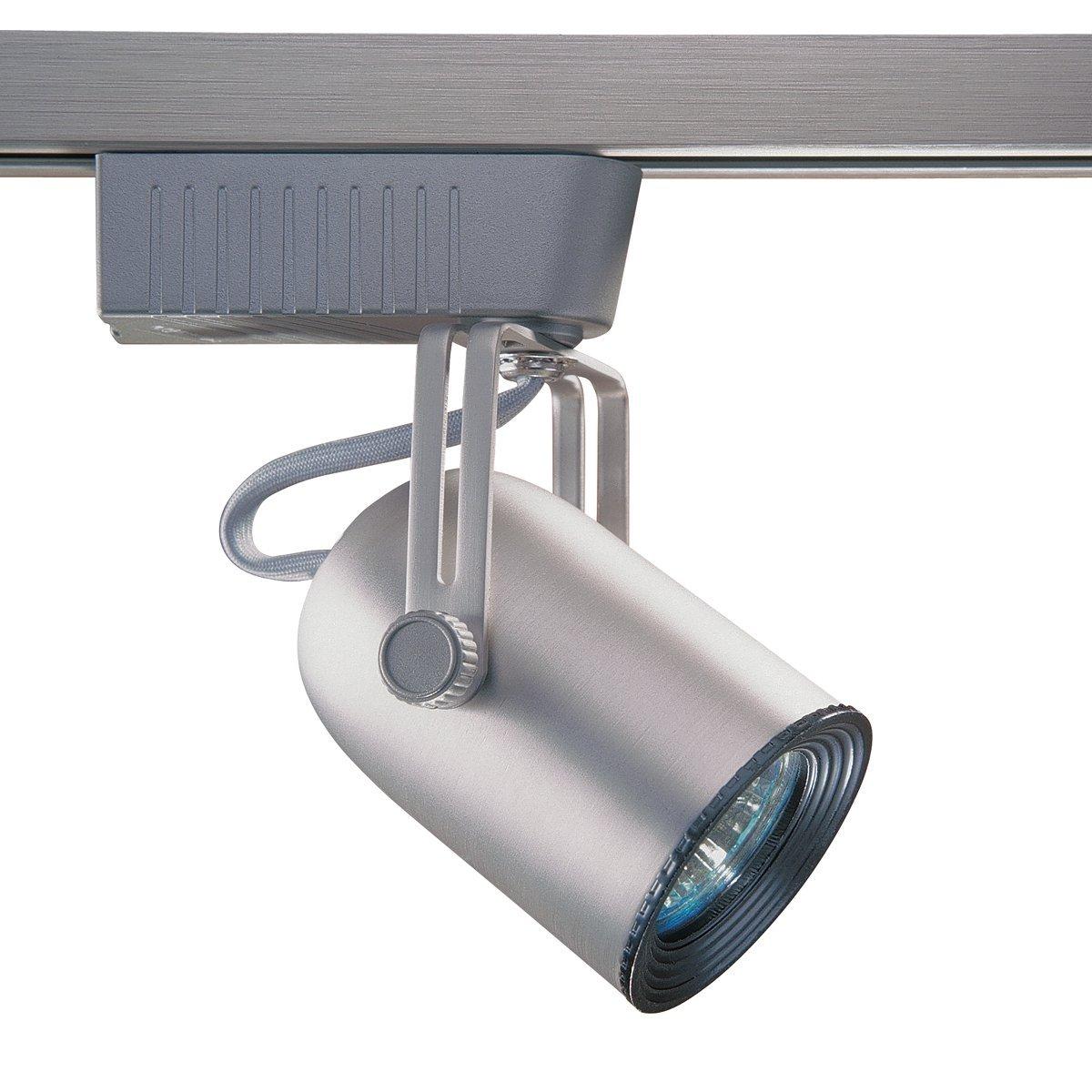 Kendal Lighting TL101-BST Designers Choice Cylinder 1-Light 12-volt Adjustable Track Head, Brushed Steel Finish