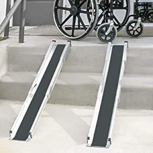 MABIS DMI Healthcare Portable Wheelchair Ramp/Threshold Ramp