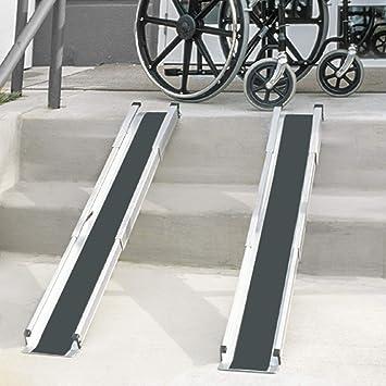 DMI Portable Wheelchair Ramp for Home, Van, Steps, Adjustable Telescoping  Retractable