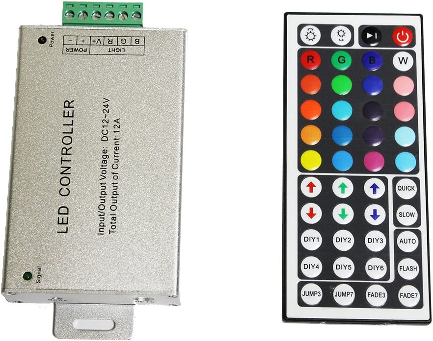 44 Keys IR Remote Controller For 3528 5050 RGB LED Strip Light 12V