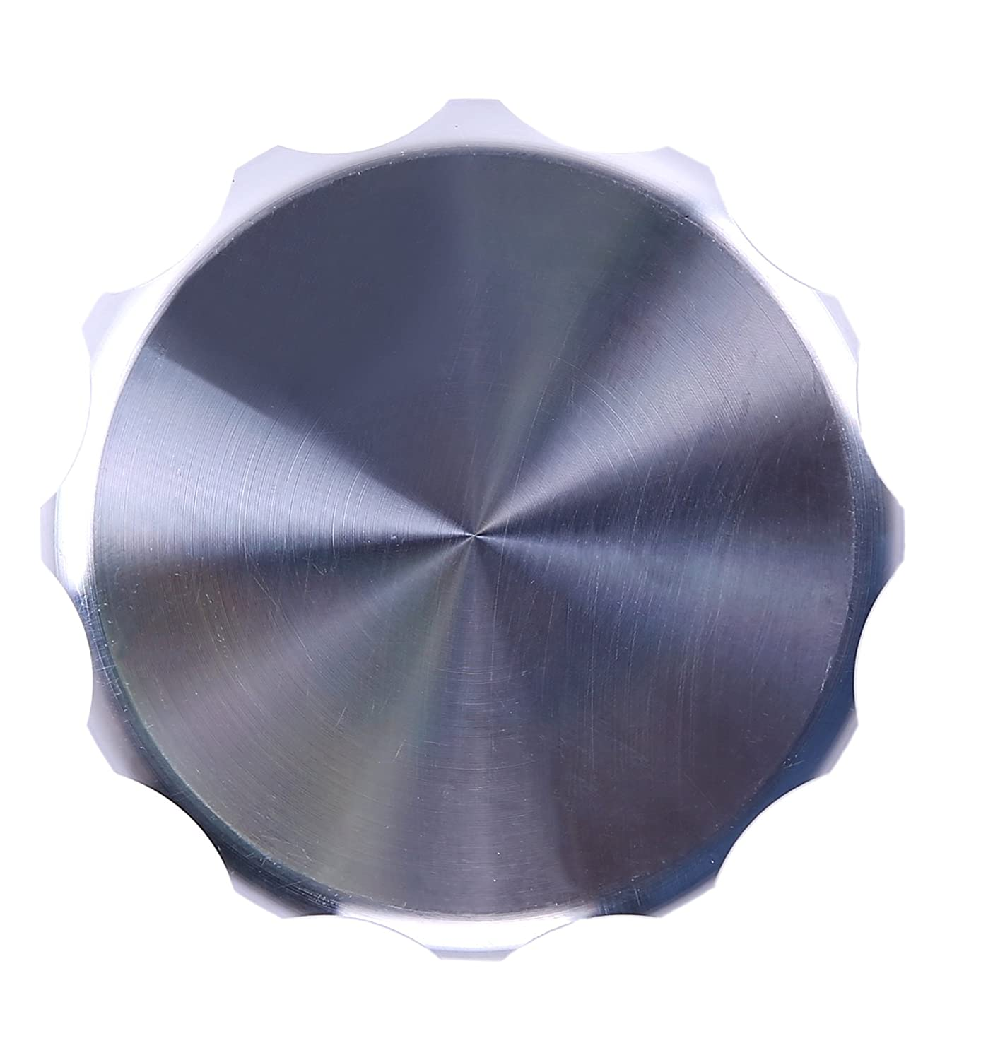 1.5 inch, silver HiwowSport Aluminium Alloy Fuel Cap Weld On Filler Neck Oil Tank Cap