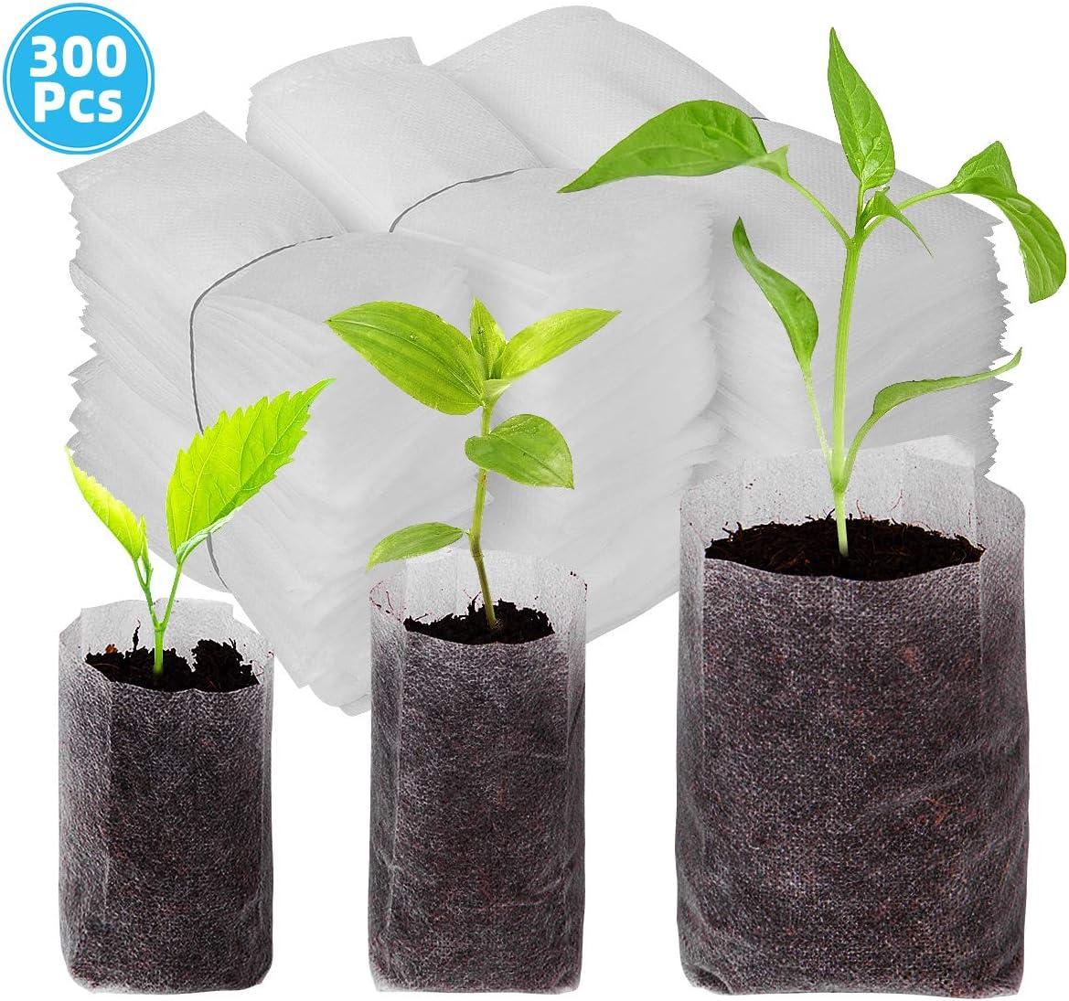 Danolt 300 Piezas Biodegradable no Tejida Bolsas para Plantas (10 ...