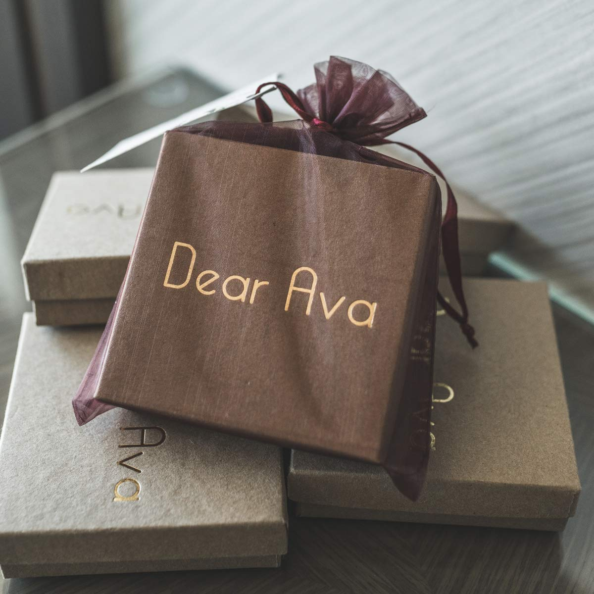 Valentines Day Grandmother Dear Ava for Grandma Necklace
