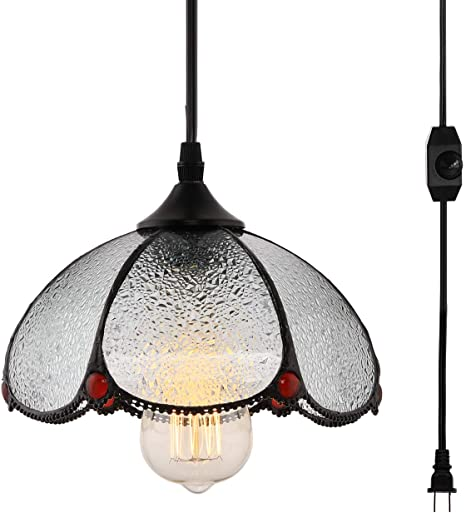 Amazon.com: HMVPL Lámpara de techo colgante estilo Tiffany ...