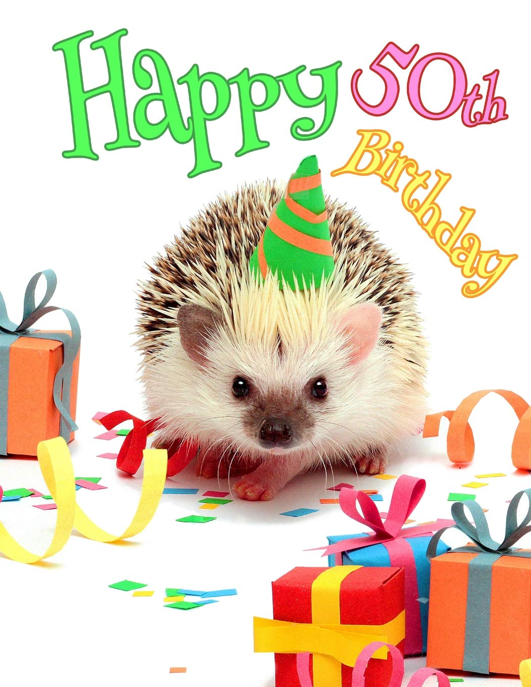 Happy 50th Birthday Cute Hedgehog Party Themed Journal