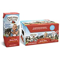 Organic Valley, Whole Milk Boxes, Shelf Stable Milk, Healthy Snacks, 6.75oz (Pack...