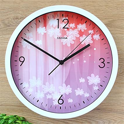 Amazon.com: Royal-12 inches vogue metal mute living room wall clock ...