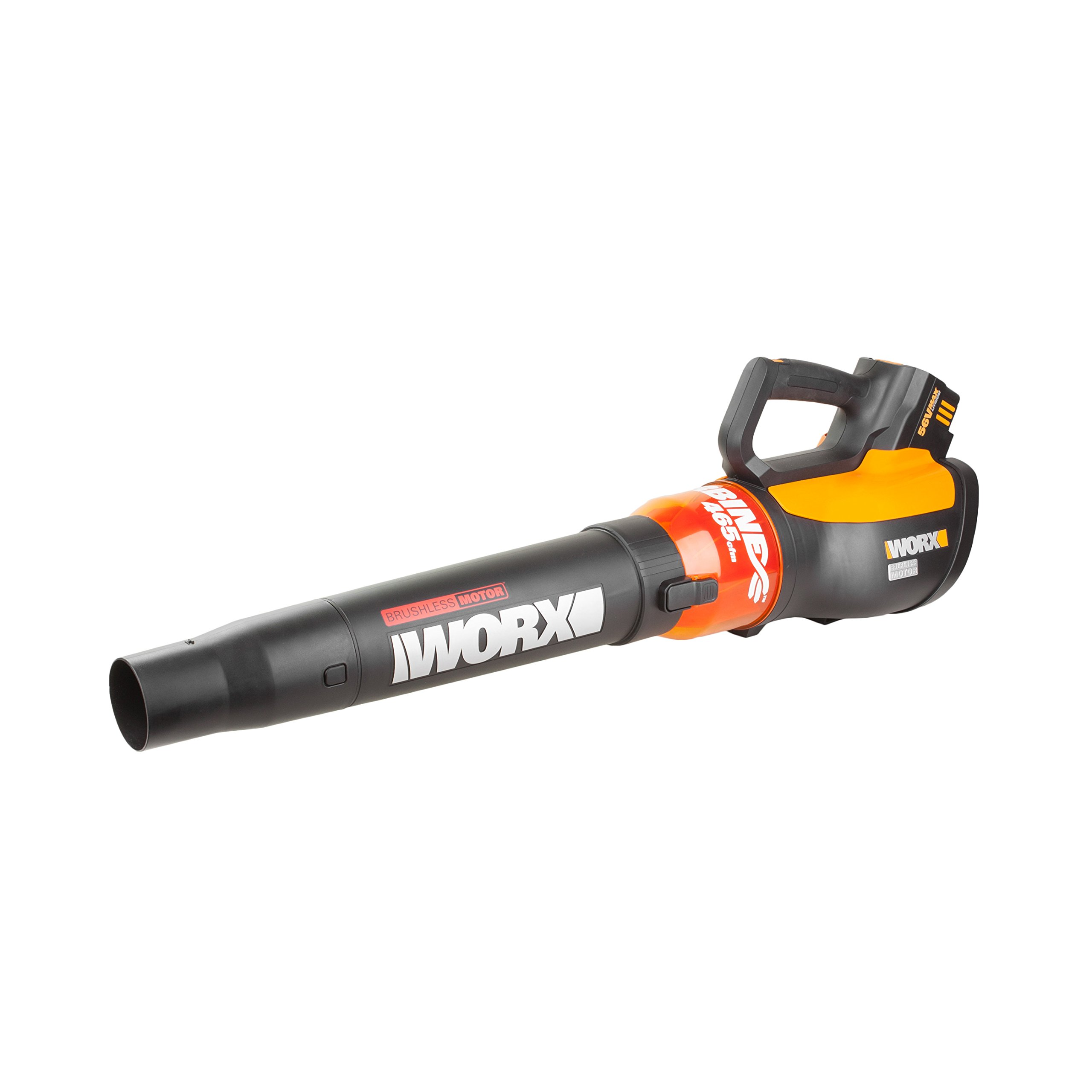 WORX WG591 Turbine 56V Cordless Battery-Powered Leaf Blower with Brushless Motor & Turbo Boost by WORX