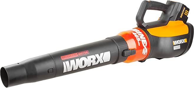 WORX WG591 Turbine 56V Cordless Battery-Powered Leaf Blower with Brushless Motor & TurboBoost
