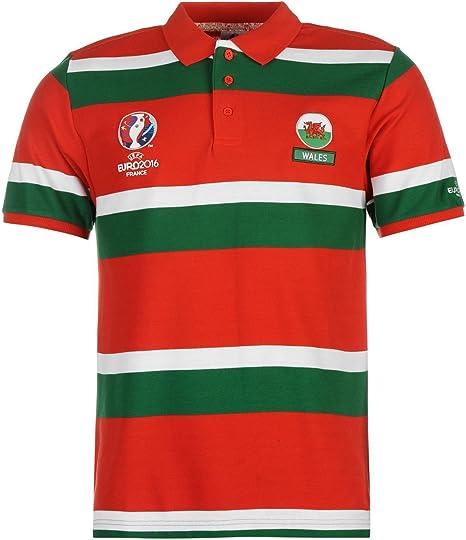 UEFA EURO 2016 de Gales diseño de rayas Polo de manga corta para ...