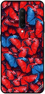 For For OnePlus 7T Pro Case Cover Red and Blue Butterflies