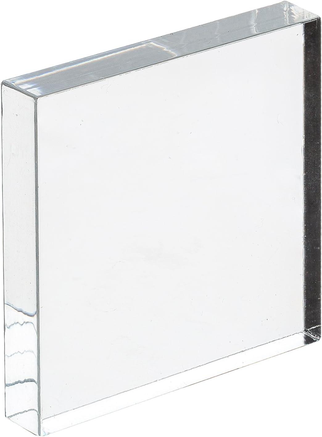 bruchfest /& vielseitig anwendbar Acrylglas-Zuschnitt Rechteckig transparente Acrylglas- Plexiglas-Platte beidseitig foliert 10 mm stark gepr/üfter UV-Schutz glasklar 200x100 mm