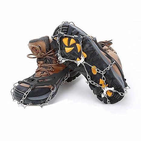 Universale 10 denti ramponi antiscivolo impugnature trazione ramponi Ice  Tacchetti Scarpe e stivali da neve Spikes 38a1fdcfc70