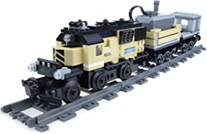 inFUNity Motorized Cargo Toy Trains Blocks Compatible with Major Brand Train Track, Electric Train Set