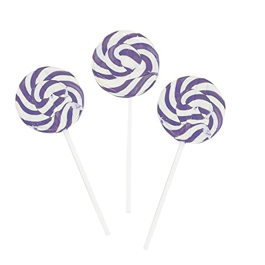 Purple Swirl Pops - Lollipop Suckers (2 dz)