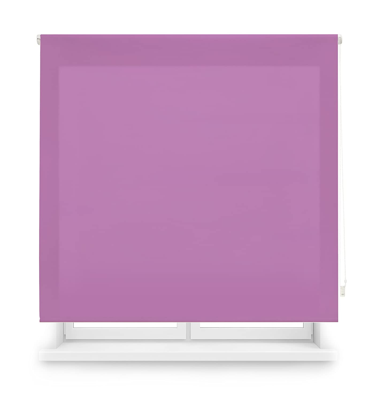 100 X 175 Cm Blindecor Ara Estor enrollable transl/úcido liso Gris Pastel