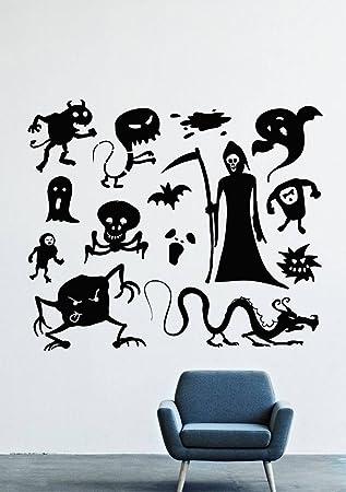Halloween Wall Decals Decor Vinyl Stickers LM1820  sc 1 st  Amazon.com & Amazon.com: Halloween Wall Decals Decor Vinyl Stickers LM1820: Home ...