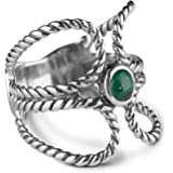 American West Sterling Silver Natural Malachite Ring