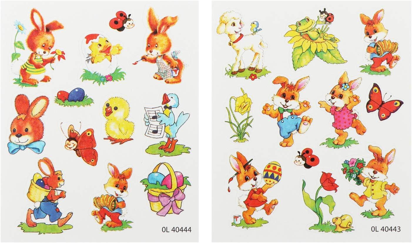 Adesivi pasquali Borsa in Feltro colorato Carte da colorare 6 Parti - Borsa in Feltro con Paglia Perfetta per Le Uova Erba Naturale com-four/® Set di 6 Decorazioni e Regali per Pasqua