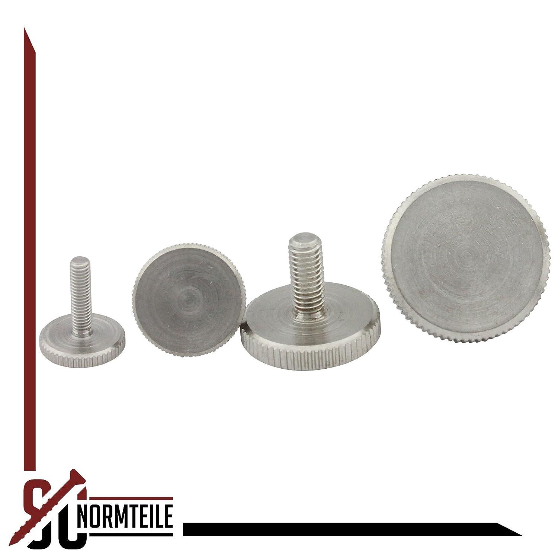 - DIN 653 R/ändelschrauben SC653 - M8x30 - niedrige Form 5 St/ück aus rostfreiem Edelstahl A1 VA -Niro SC-Normteile/®