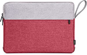 Laptop Sleeve, Laptop Protective Case Bag Compatible with 2019 2018 MacBook Air 13 inch Retina Display A1932, 13 inch MacBook Pro A2159 A1989 A1706 A1708 and Notebook Computer (Grey Red)