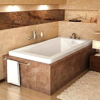 Spa World Venzi Vz3060vn Villa Rectangular Soaking Bathtub, 30x60,  Reversible Drain, White