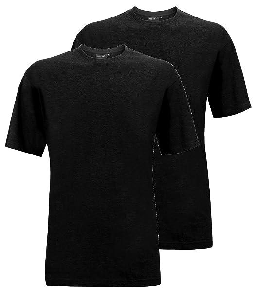 Redfield Doppelpack Camiseta Hombre Oversize Negro: Amazon.es: Ropa y accesorios