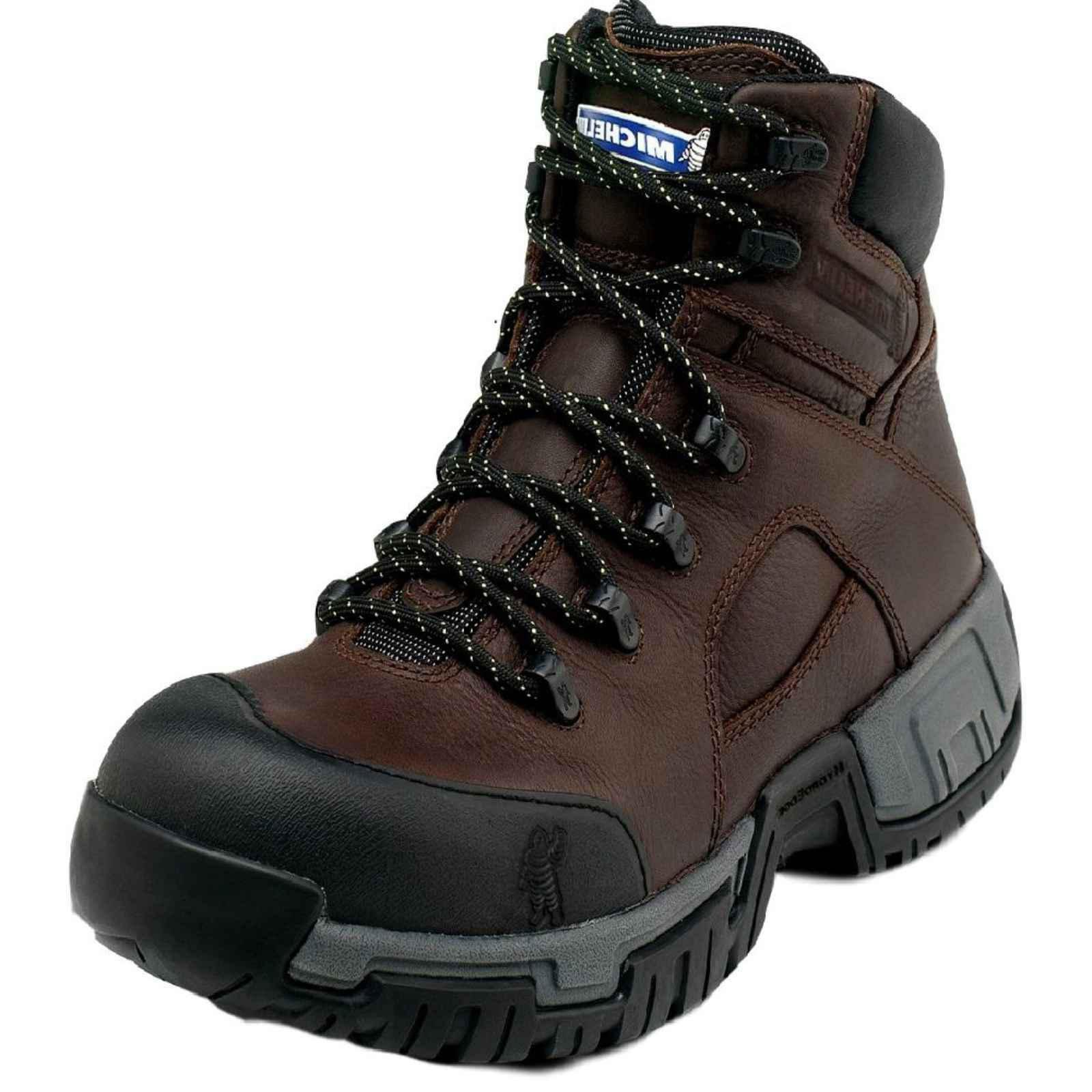 Michelin Men's Hydroedge Hitop Steel Toe Boots,Brown,9.5 W by MICHELIN (Image #1)