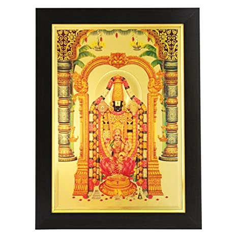 7a9ec1106c1 Buy Shree Ganesh Enterprise Gifting Solutions Gold Plated Photo Frame Of  God Balaji and Goddess Lakshmi (26x1x35 CM) Online at Low Prices in India -  Amazon. ...