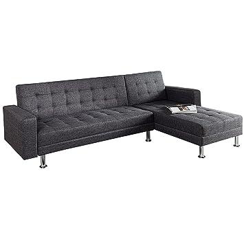 Lounge ecksofa  Design Ecksofa CHAISE LOUNGE mit Schlaffunktion grau beidseitig ...