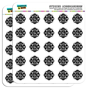 Fireman Stickers, 96, Fireman Planner Stickers, Fireman Sticker Set, Fireman  Envelope Seals