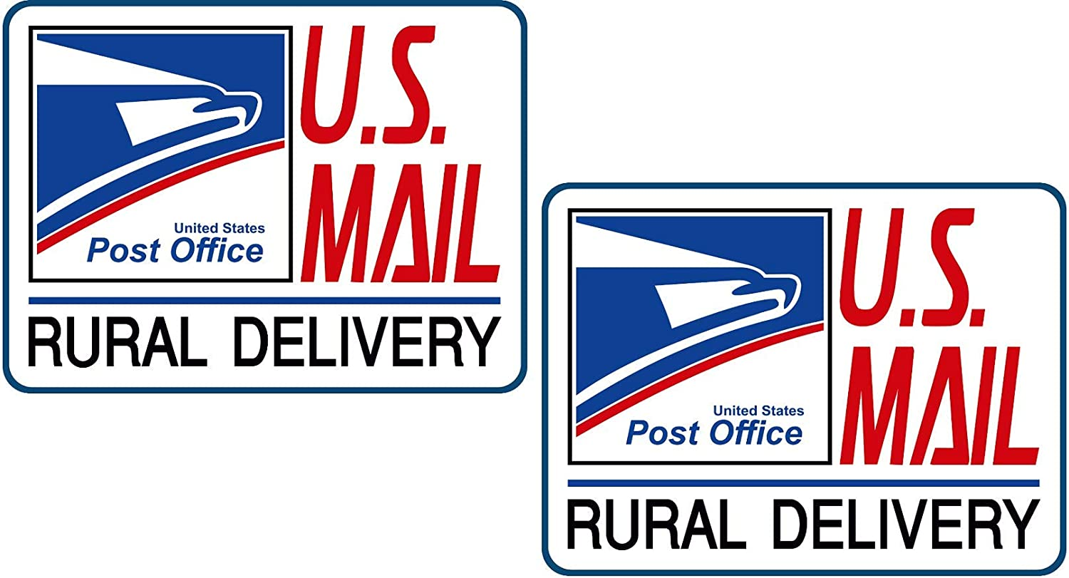 Artisan Owl U.S Large 9X12 Set of Three Magnets Mail Delivery Magnetic Sign for Rural Delivery Carrier Magnet USPS