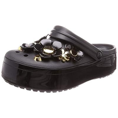 Crocs Women's Crocband Platform Metallic Blooms Clog | Mules & Clogs