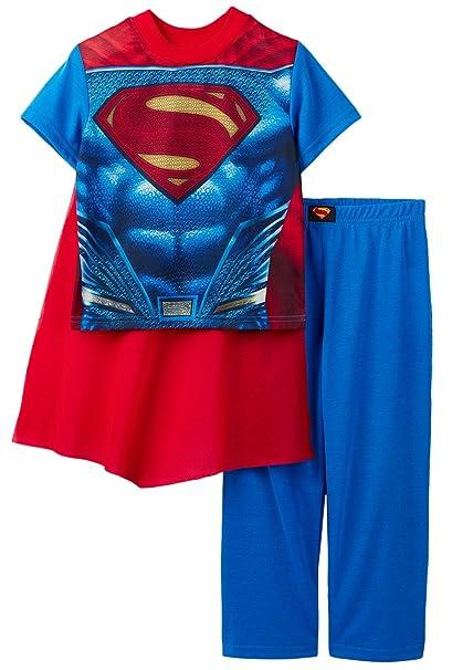 845fe0fd81 Amazon.com  DC Comics Superman Boys 2-Piece Pajama Set with Cape ...