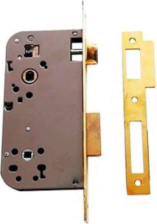 Tesa Assa Abloy,203460HL,Cerradura de embutir para puertas de madera 2034,Entrada 60mm,Latonado: Amazon.es: Bricolaje y herramientas