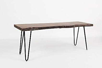 Amazon.com: Benzara BM184017 - Banco de madera con patas ...