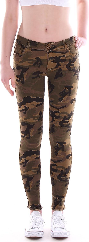 Vaqueros Style Station24 Mujer Tubo Pantalones Vaqueros Camuflaje Cadera Jeans Army Skinny Jeans Ropa Brandknewmag Com