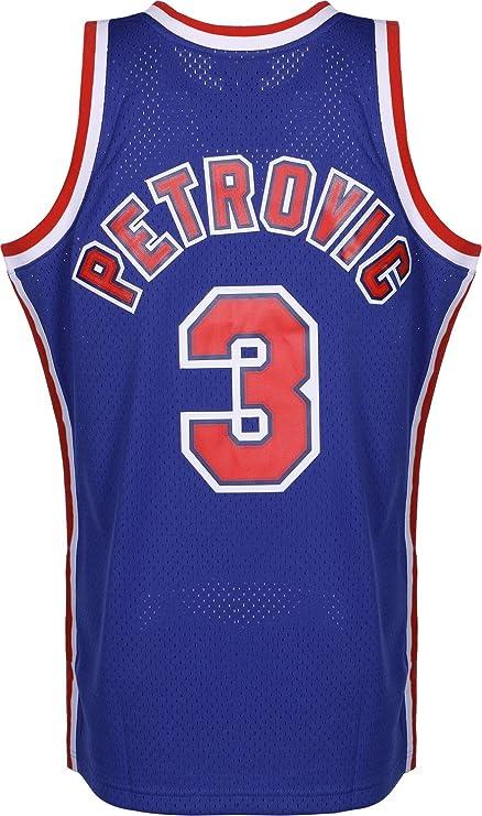 Mitchell & Ness Camiseta NBA New Jersey Nets DRAZEN Petrovic 3 (Azul), S: Amazon.es: Ropa y accesorios
