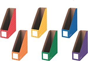 Bankers Box Classroom Magazine File Organizers, 4-Inch, Assorted Colors, 6 Pack (3381901)
