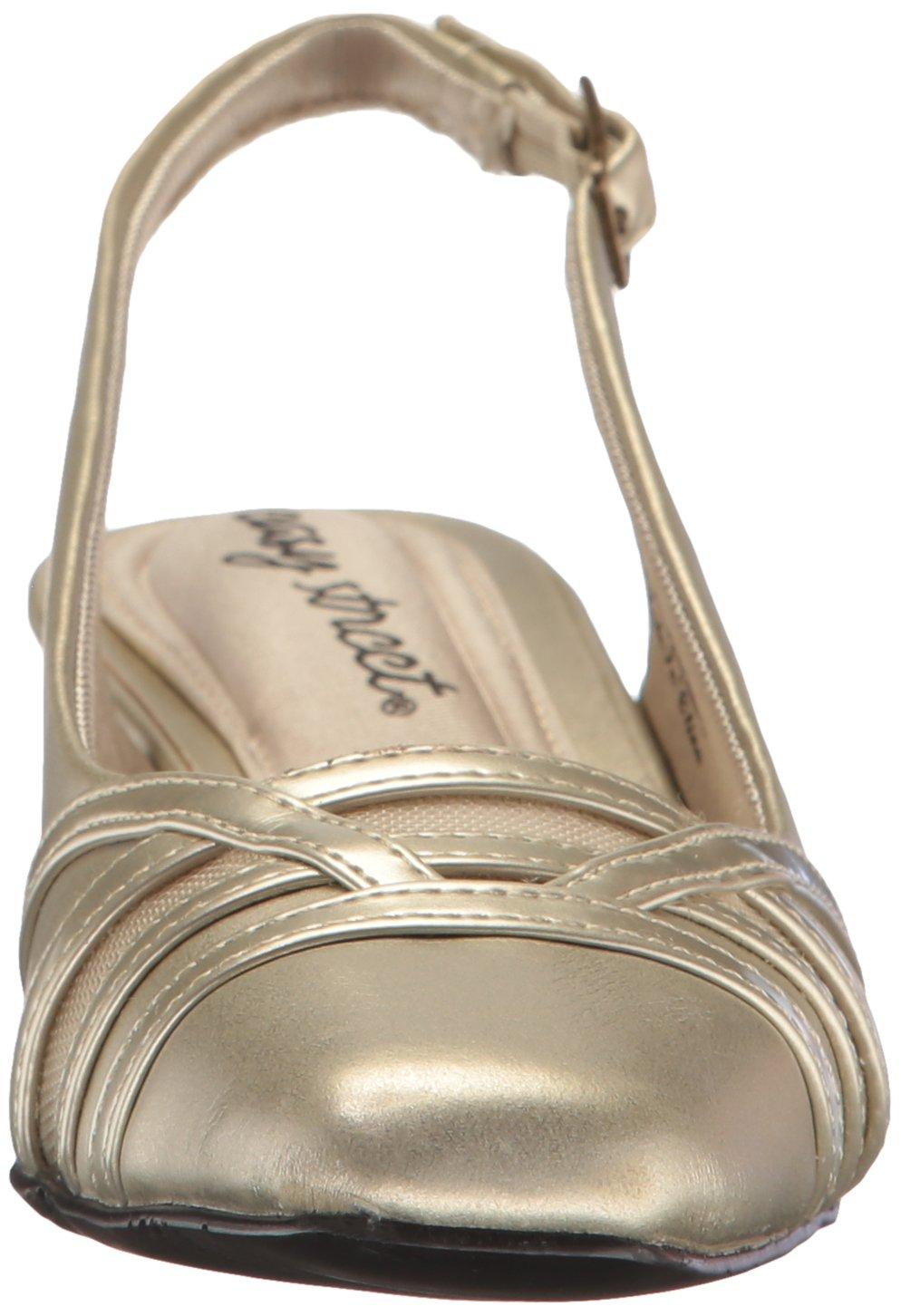 Easy Street Women's Kristen Dress Pump B01MSSJUY3 12 W US|Champagne/Patent
