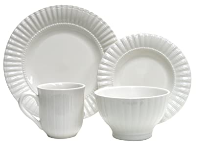 Thomson Pottery 16u0026#x2212;pc Masion White Dinnerware Set  sc 1 st  Amazon.com & Amazon.com | Thomson Pottery 16?pc Masion White Dinnerware Set ...