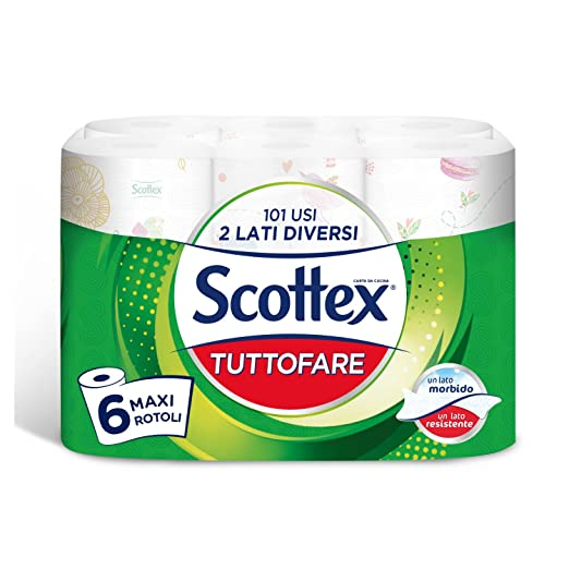 61 opinioni per Scottex Tuttofare Due Lati Diversi, 6 Maxi Rotoli