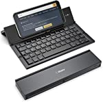 Folding Bluetooth Keyboard,Geyes Foldable Wireless Keyboard with Portable Pocket Size, Aluminum