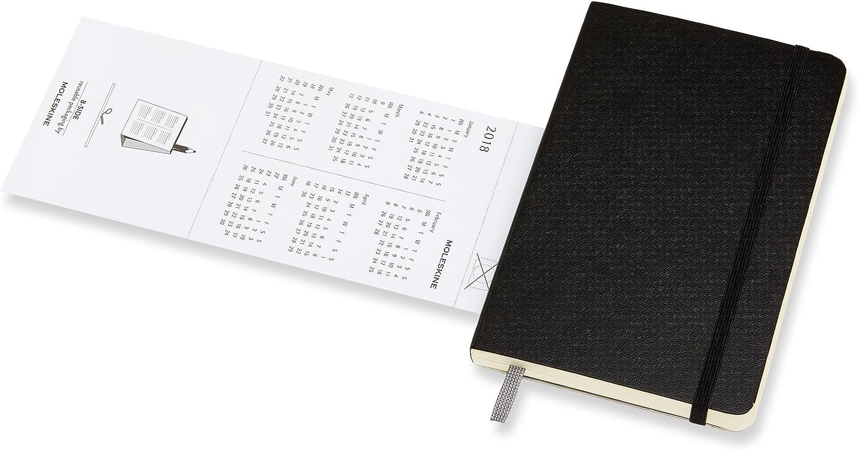 Black Moleskine Academic Pocket Notebook 18 Month Diary 2017-2018 Week To View AGENDAS 18 MOIS