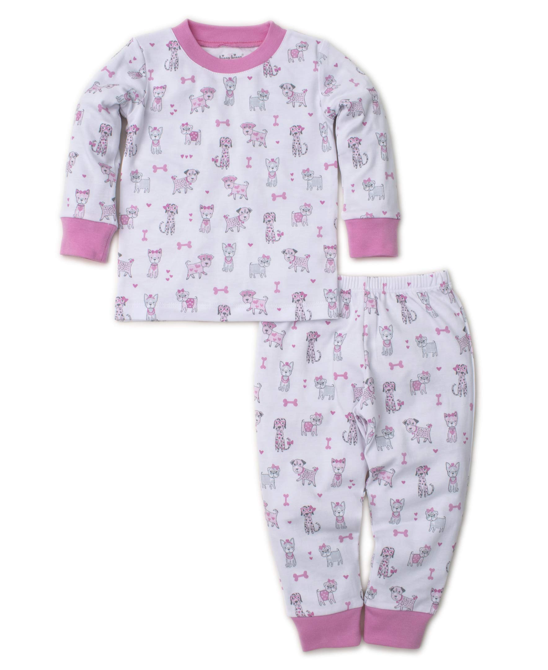 Kissy Kissy Baby Girls Doggie Divas - Print Pajama Set - Snug Fit-6 Pink by Kissy Kissy