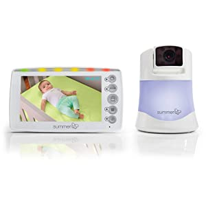 Summer Infant InView 2.0 Plus Video Baby Monitor with Night Vision, 180-Degree Visibility and Soft Glow Night Lights